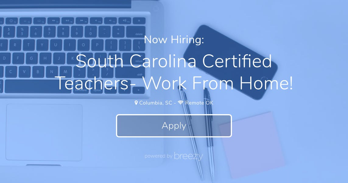 South Carolina Certified Teachers Work From Home At Itutor