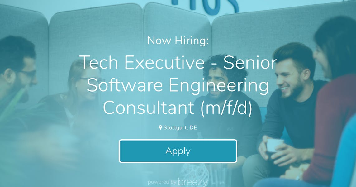 Tech Executive - Senior Software Engineering Consultant (m/f