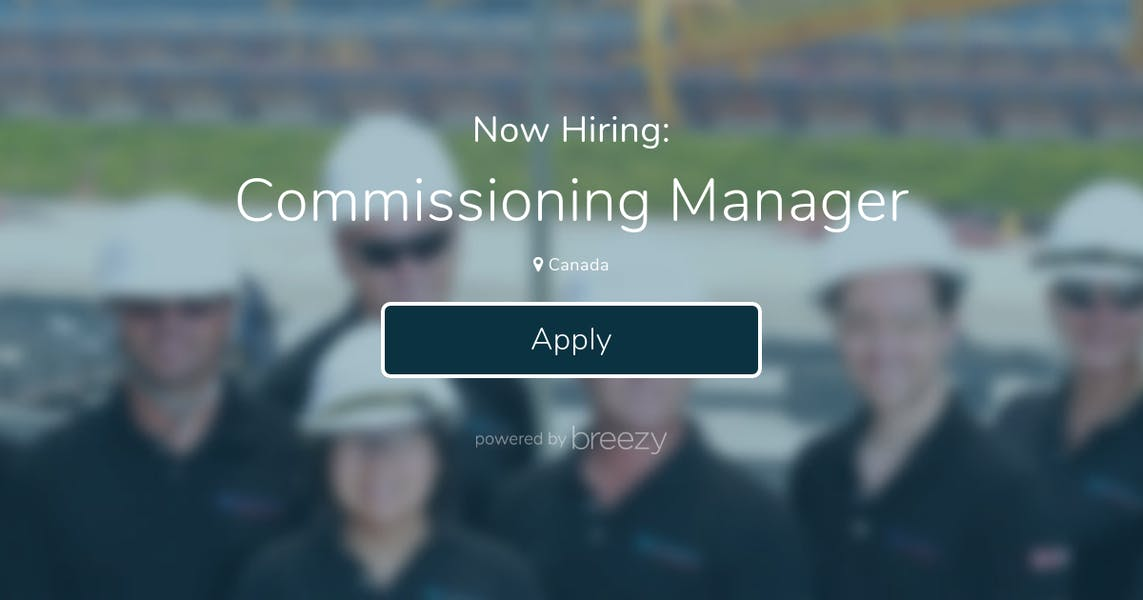 Commissioning Manager at Progesys Inc