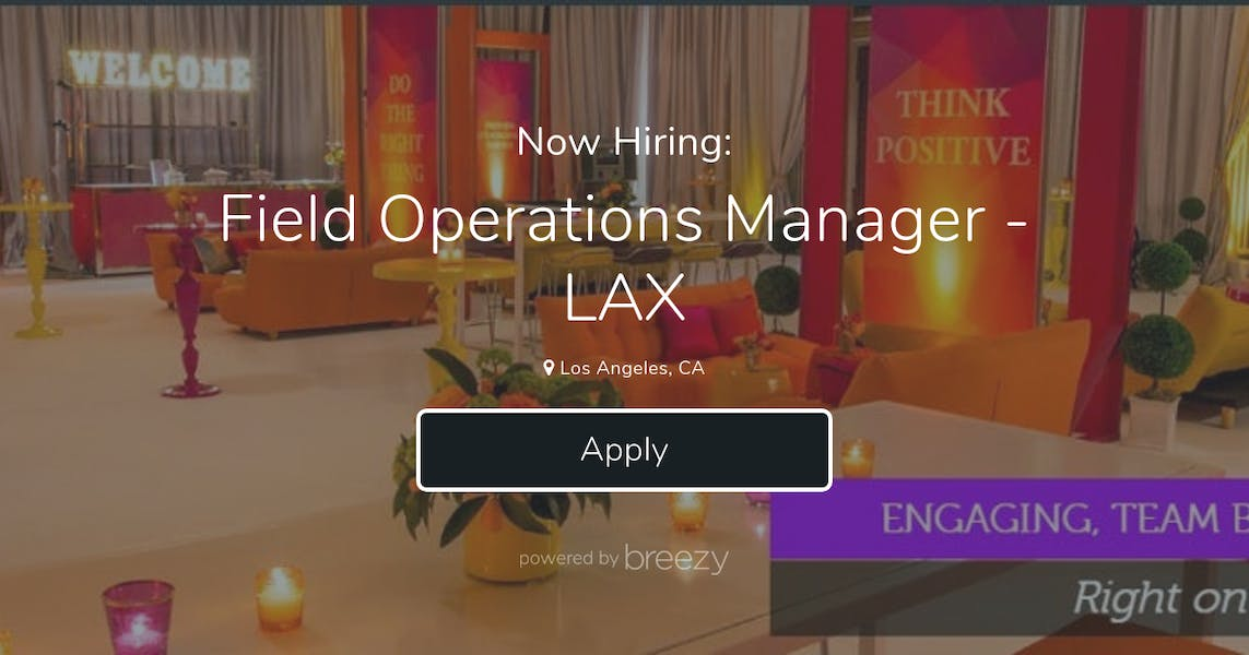 Field Operations Manager - LAX at Blueprint Studios