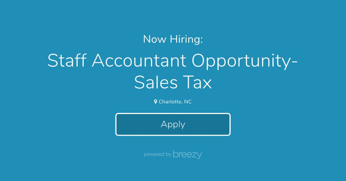 Charlotte Nc Sales Tax >> Staff Accountant Opportunity Sales Tax At Liniumaf