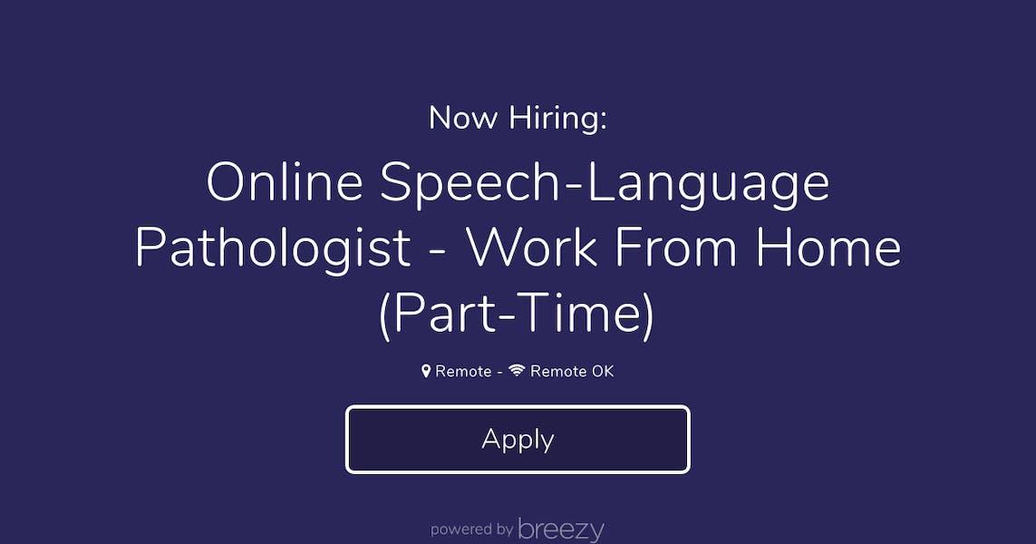 Online Speech-Language Pathologist - Work From Home (Part ...