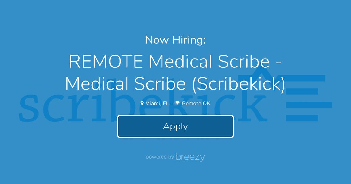 REMOTE Medical Scribe - Medical Scribe (Scribekick) at