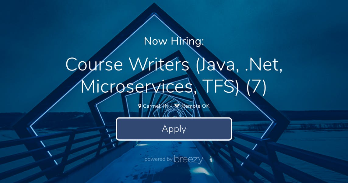 Course Writers (Java,  Net, Microservices, TFS) (7) at Alt Shift USA