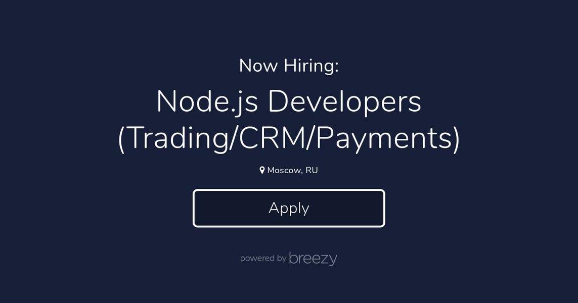 Node js Developers (Trading/CRM/Payments) at LATOKEN