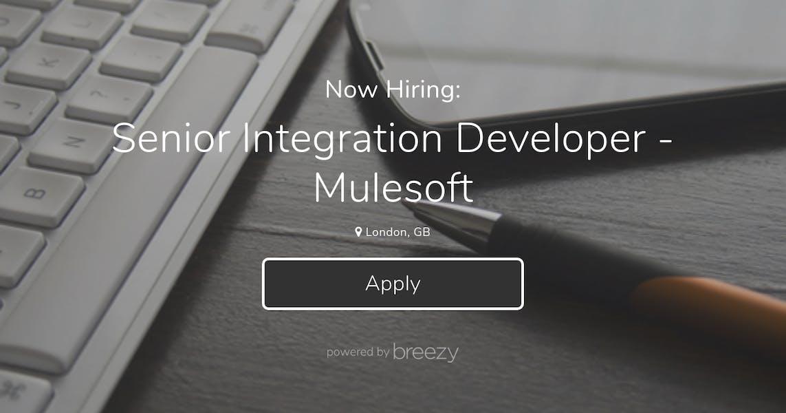 Senior Integration Developer - Mulesoft at Auxillium
