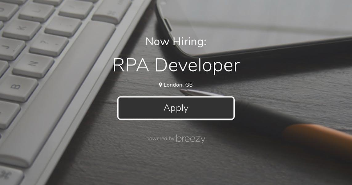RPA Developer at Auxillium