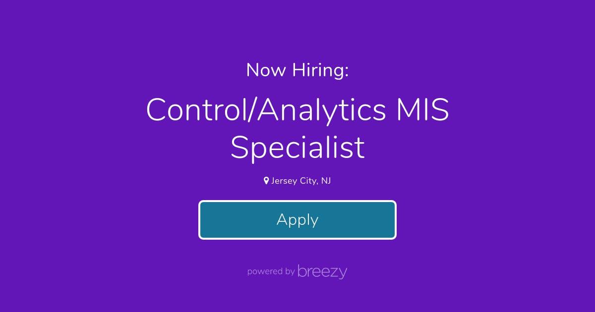 Control Analytics Mis Specialist At Linium Resources