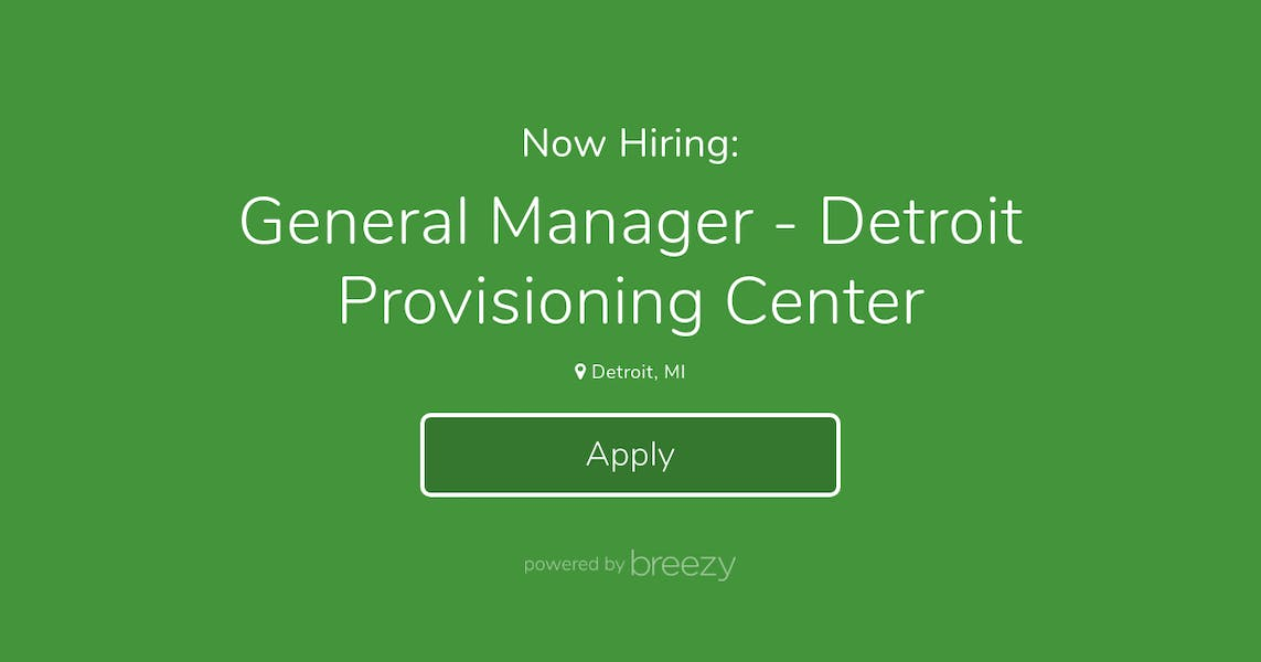 General Manager - Detroit Provisioning Center at THC123