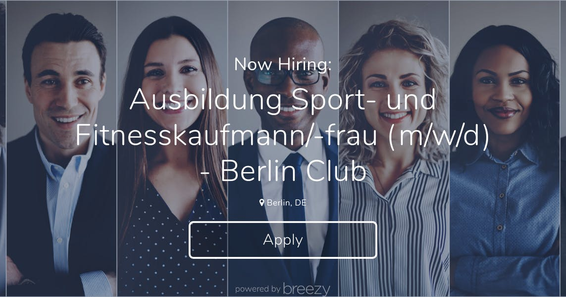 Mw Auto Sales >> Ausbildung Sport- und Fitnesskaufmann/-frau (m/w/d) - Berlin Club at Aspria
