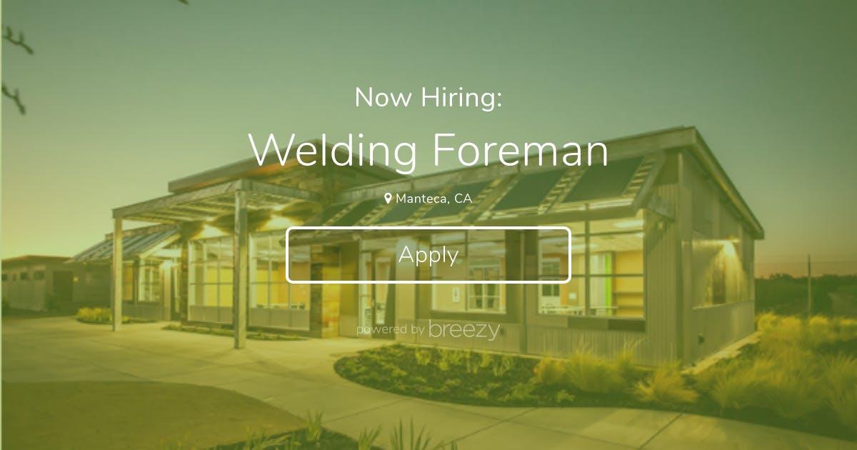 Image result for Welding Foreman